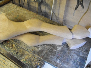 Back legs carved